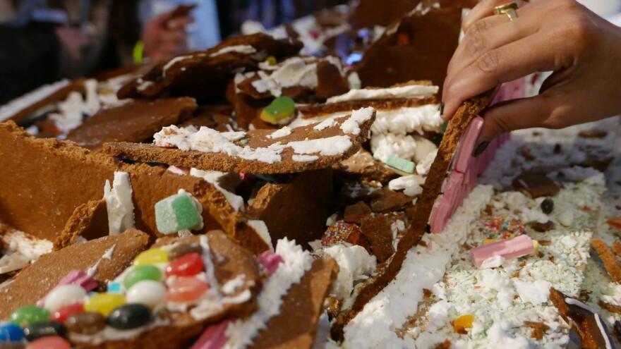 After the destruction, participants get to eat the delicious debris.