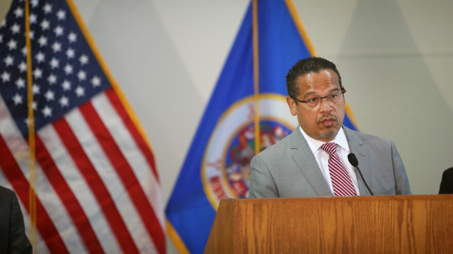 Minnesota Attorney General Keith Ellison, pictured on June 3, is leading a lawsuit against Exxon Mobil, Koch Industries and the American Petroleum Institute.