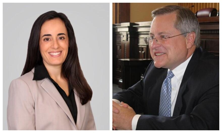 Attorney Michelle Schwerin and former Supreme Court Judge Ray Price