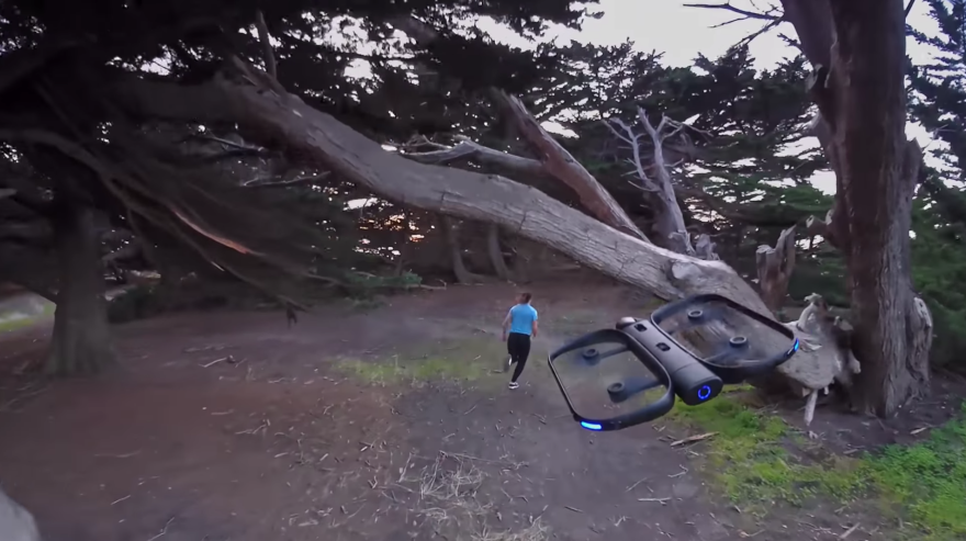 The Skydio R1 self-flying camera drone is equipped with 13 cameras, enabling it to look in every direction at once, the company says.