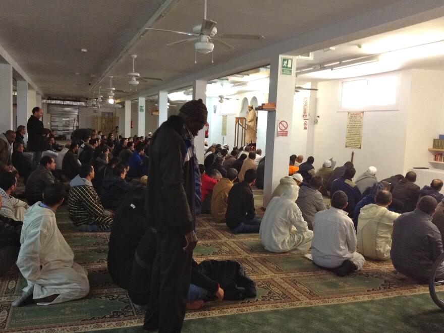 Muslim men attend Friday prayers at La Pau Islamic Center in Tarragona, a Mediterranean coastal town where Muslims comprise about 10 percent of the population.