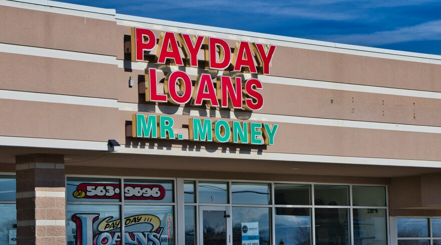 Payday Loans Mr. Money sign.