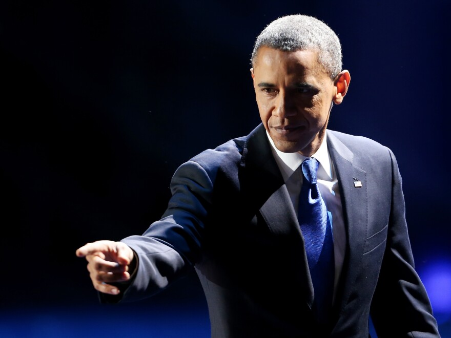 President Obama on Election Night in Chicago.
