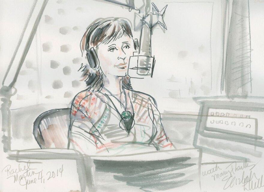 Artist Elizabeth Williams sketched NPR's Rachel Martin during their conversation.