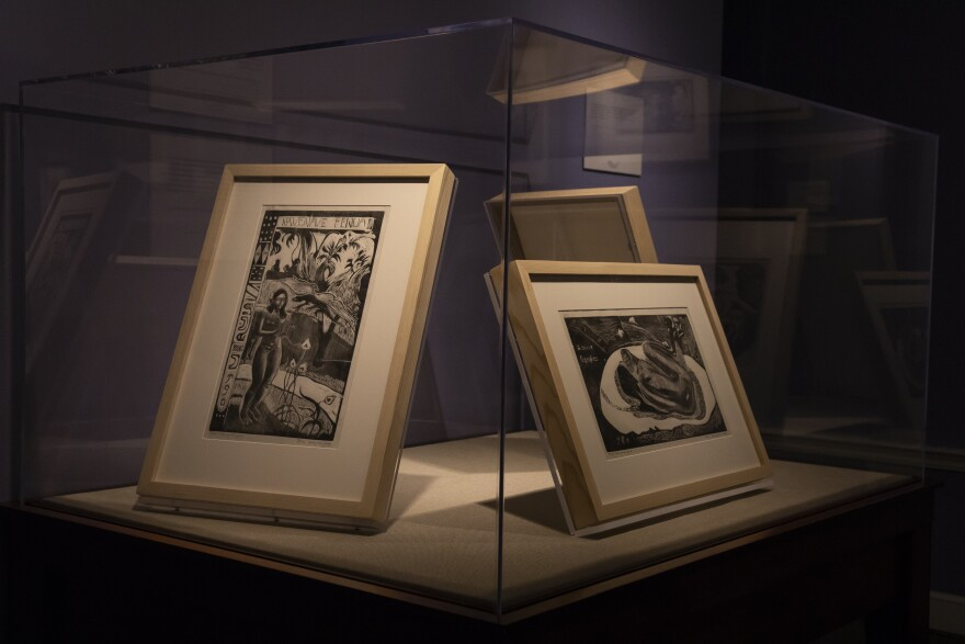 The historic Payne Mansion contains Gauguin's ten dramatic woodcuts, wood engravings, and lithographic prints.