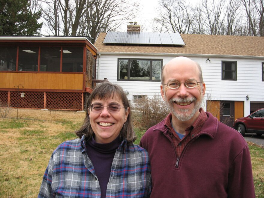 Barbara Scott and Mac Given in Media, Pa., had 21 solar panels installed last March. With government rebates and tax incentives, Scott says, her family spent $21,000 to install the system.