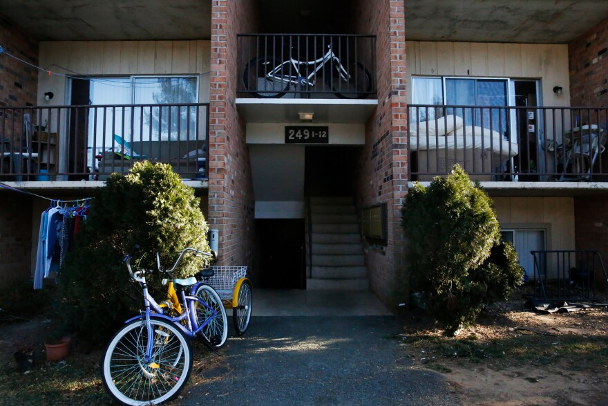 The University Heights apartment complex is home to many refugee families in Charlottesville.