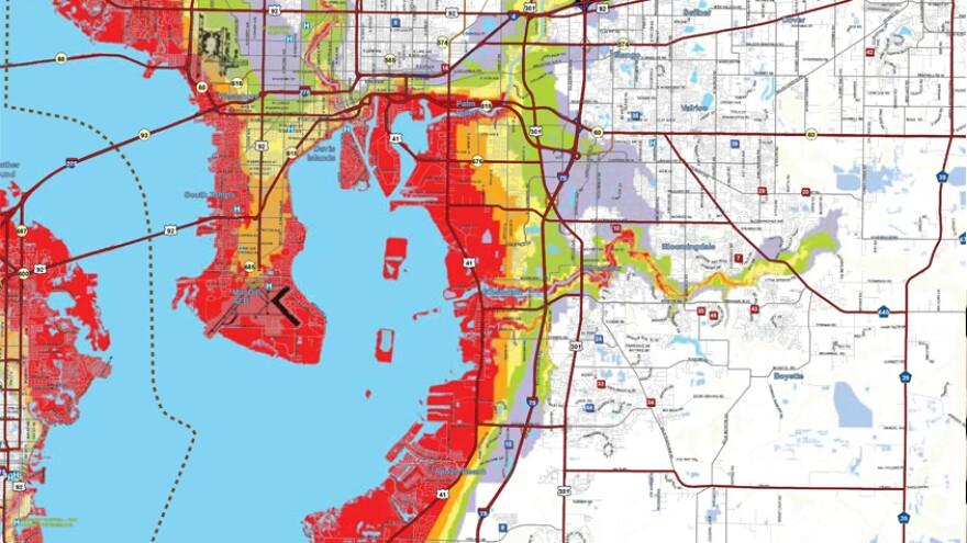 Hillsborough County evacuation zones.