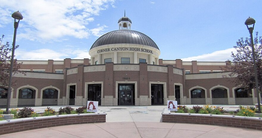 Photo of Corner Canyon High School.