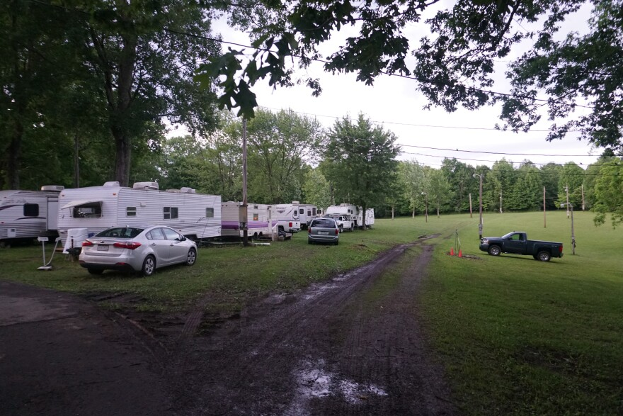 A view of the campground at the WV Mountain State Gospel Convention. Photo by Zack Harold