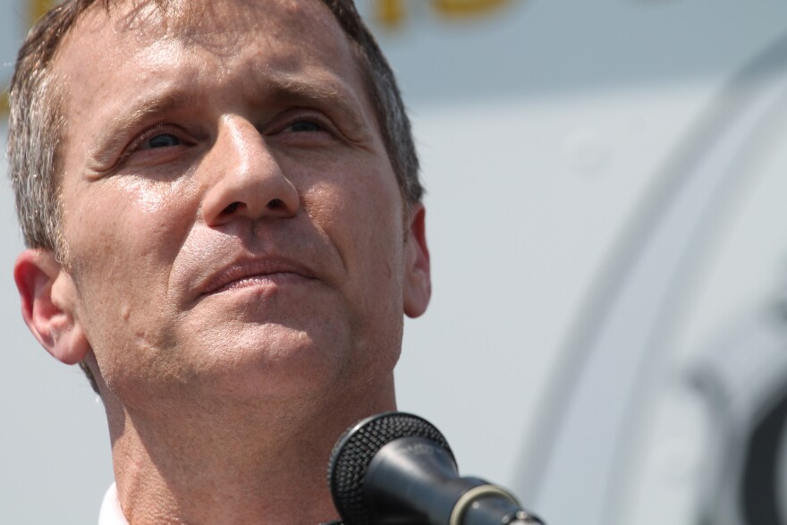 """Gov. Eric Greitens announces the """"St. Louis Safety Plan"""" in north St. Louis on Monday, July 10, 2017."""