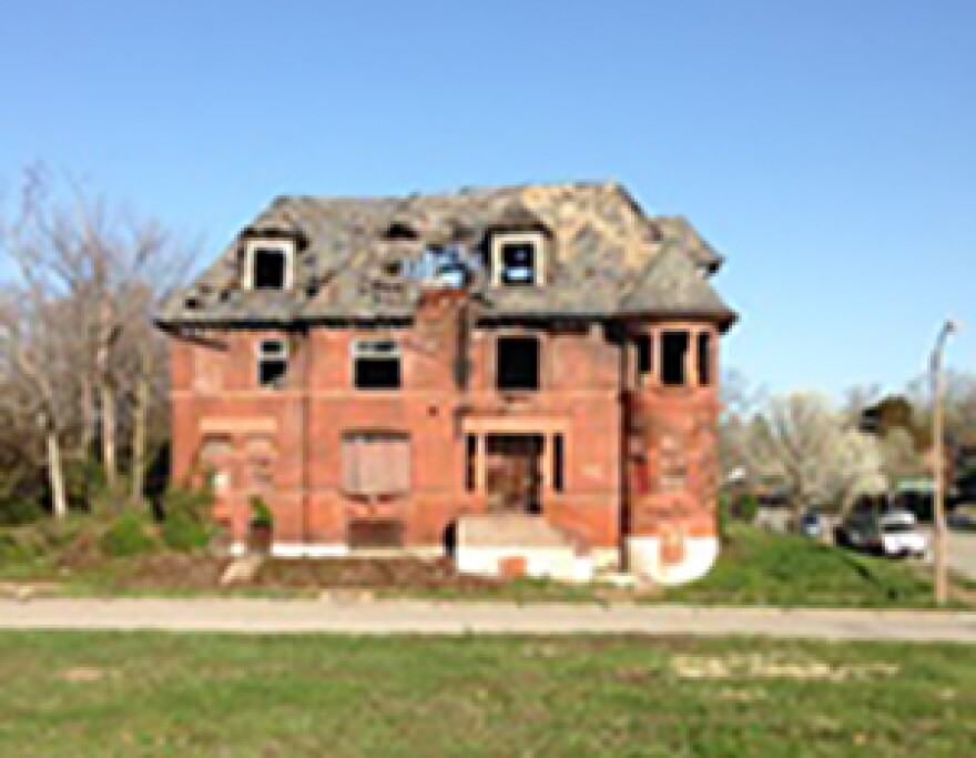 Big house with broken windows