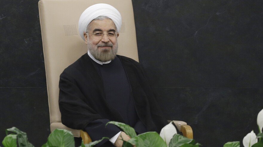 <strong>Much To Smile About?</strong> Iranian President Hasan Rouhani prepares to address the 68th session of the U.N. General Assembly on Tuesday.