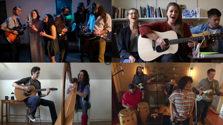 Some of our favorite entrants to the Tiny Desk Contest this week (clockwise from top left): Buffalo Rose; Mary Moore; Phat Lip; The Stapletons.