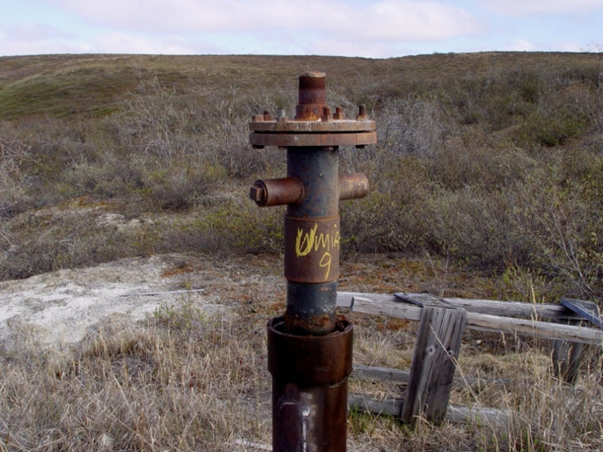 An abandoned oil well in Alaska.
