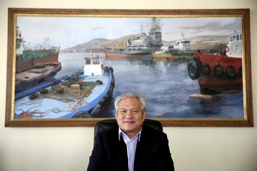 COSCO's chief executive in Piraeus, Capt. Fu Cheng Qiu, says he wants to make the port the largest in the Mediterranean.