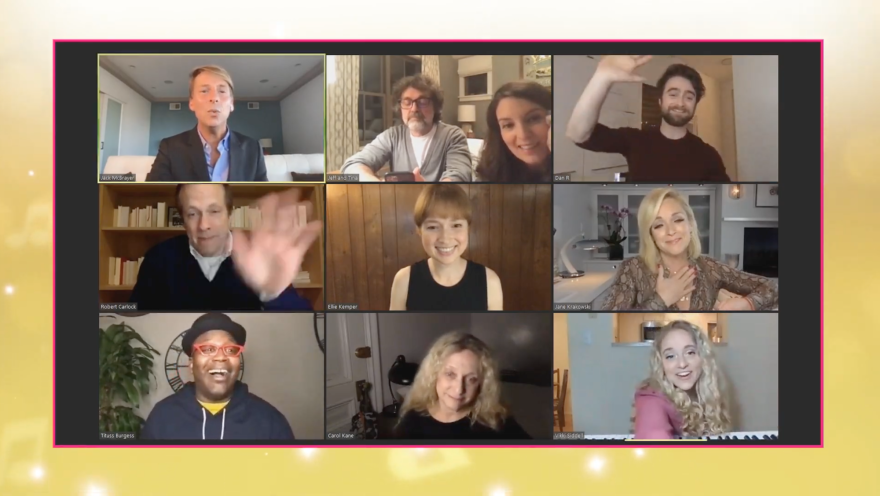 """Vikki Siddell (bottom right corner) on St. Charles performed in from of the """"Unbreakable Kimmy Schmidt"""" cast for the live singing contest: """"Kimmy vs. the Music: A Live Singing Contest That's Live."""""""
