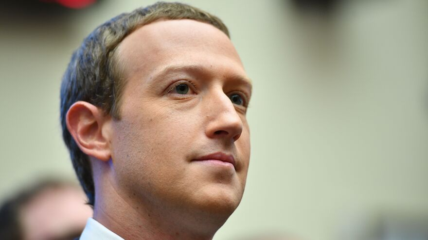Facebook CEO Mark Zuckerberg appears before the House Financial Services Committee on Wednesday. He faces questions about the company's influence.