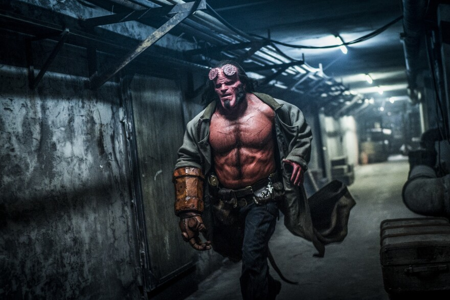 Aw, crap: David Harbour stars in the 2019 reboot of <em>Hellboy. </em>
