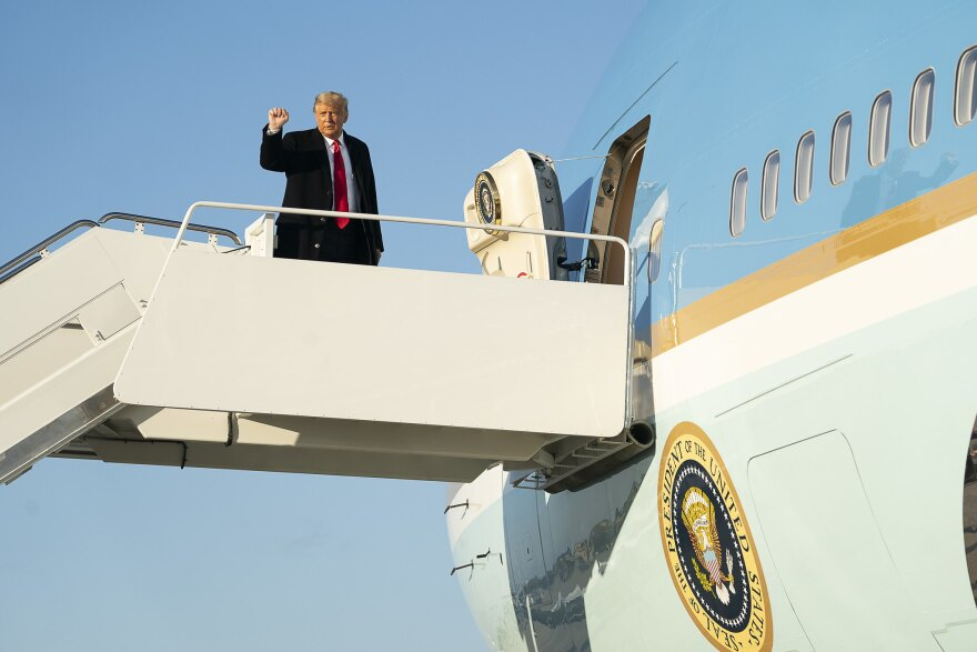 Donald Trump Fist Air Force One