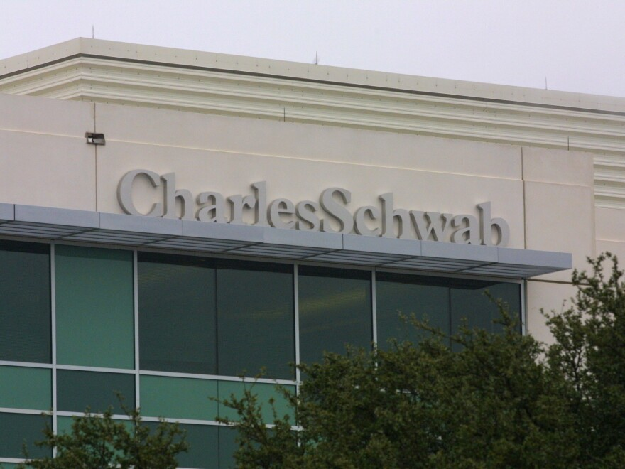 Charles Schwab is slashing its online trading commission from $4.95 to zero starting Monday. The company cited competition from new online rivals.