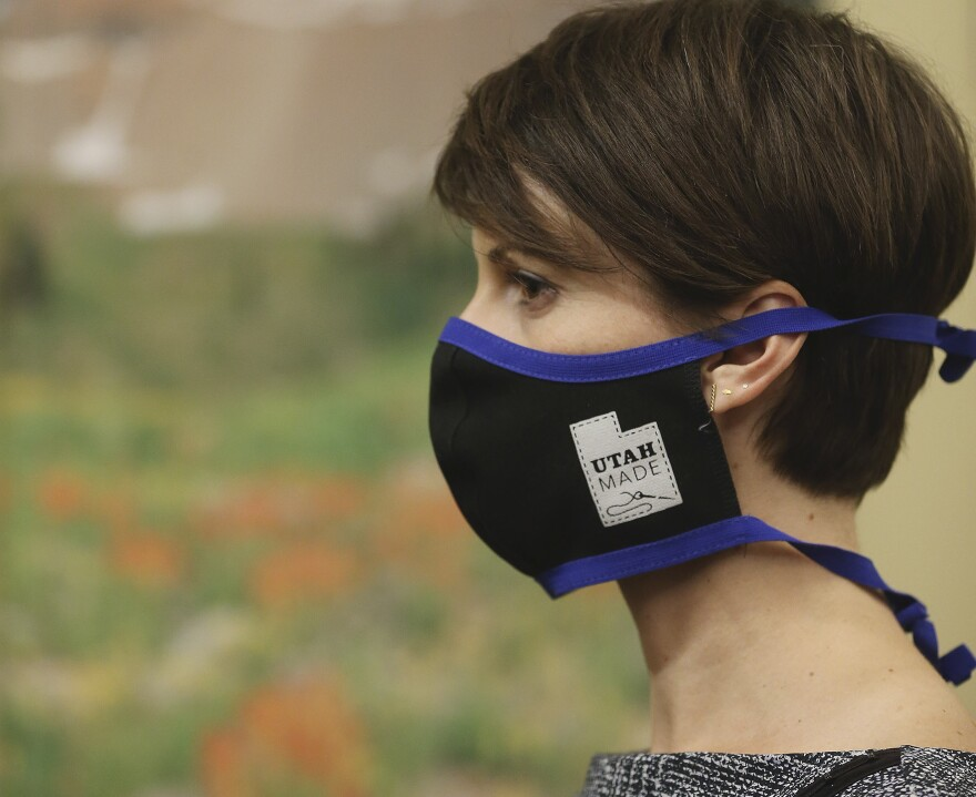 Photo of a woman wearing a mask