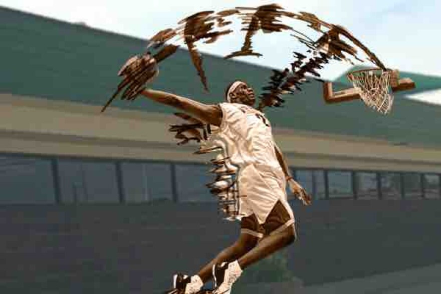 photo of LeBron James statue concept