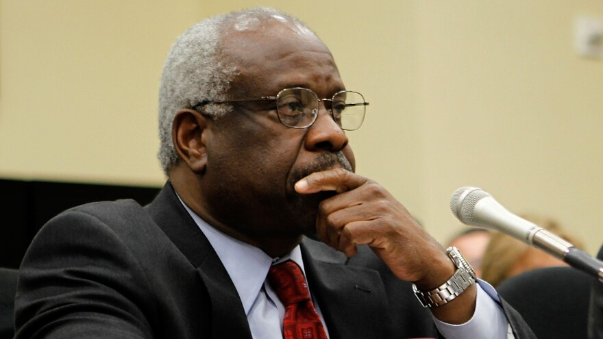 Clarence Thomas has given speeches or interviews from time to time, but had not asked a question during oral arguments for 10 years.