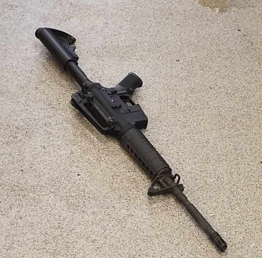 A Metro Nashville Police Department photo shows the rifle used in the deadly shooting at a Waffle House on Sunday in the Antioch neighborhood of Nashville, Tenn.