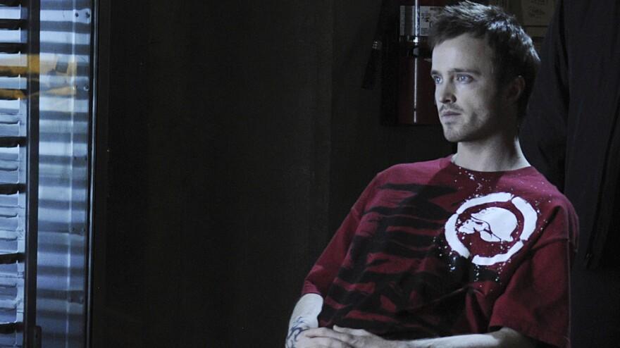 Aaron Paul plays a meth-making drug dealer on the AMC drama <em>Breaking Bad</em>.