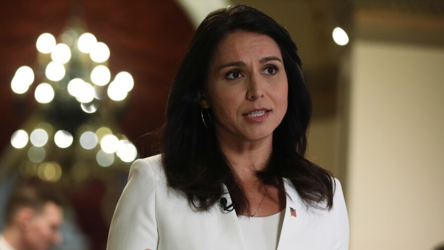 Rep. Tulsi Gabbard had staked her candidacy on an anti-war platform but faced criticism for past positions.