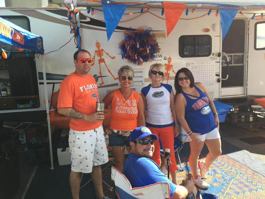 Gator fans Keith Waller, Lisa Betros and company are pictured in this file photo.