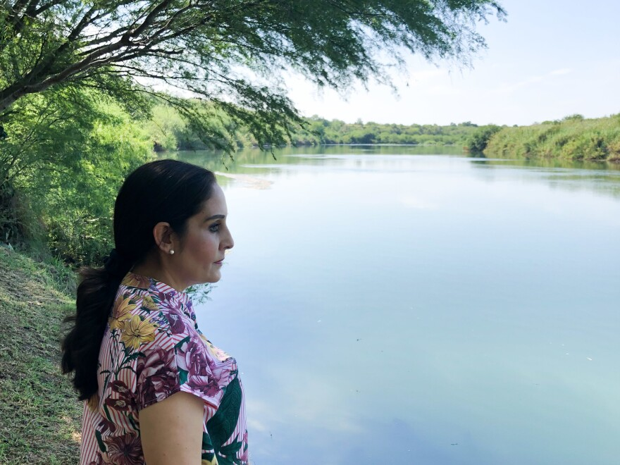 Nayda Alvarez, a high school teacher, says Customs and Border Protection notified her that it plans to erect the security wall through her backyard. She says it will cut off her access to the Rio Grande, on whose banks her family has fished and picnicked for years.