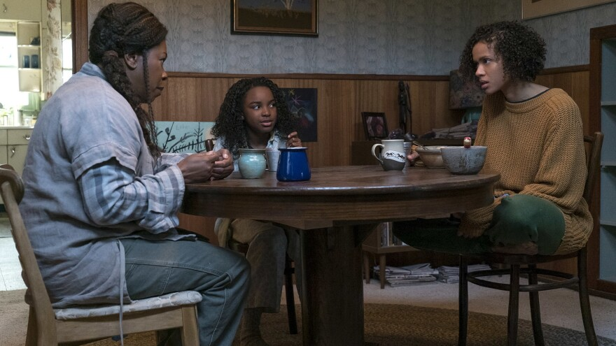 Superpowers are matrilineal in <em>Fast Color. </em>From left, Lorraine Toussaint as Bo, Saniyya Sidney as Lila and Gugu Mbatha-Raw as Ruth.