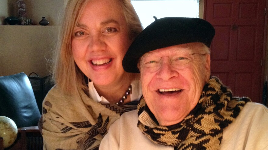 Actor David Huddleston, pictured with his wife, Sarah Koeppe, was nominated for an Emmy in 1990 for his role as the grandfather on <em>The Wonder Years.</em>