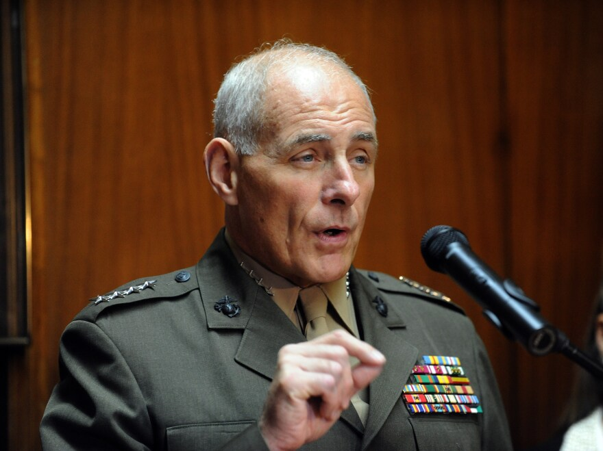 General John Kelly opposes the closure of the U.S. prison at Guantanamo.
