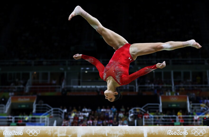 Raisman was third halfway through the all-around competition, but managed to finish in second.