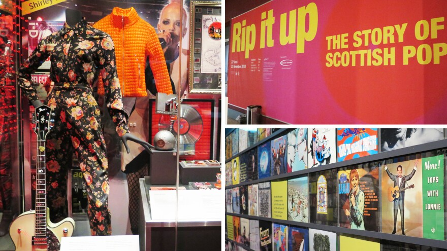Scenes from the National Museum of Scotland's exhibition dedicated to Scottish pop music.