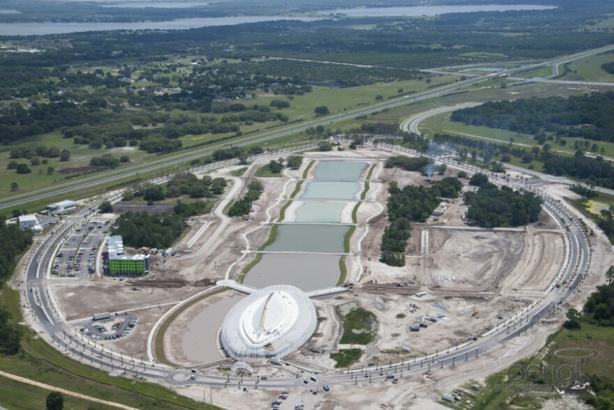 This aerial photo shows Florida Polytechnic University's Lakeland campus in April 2014
