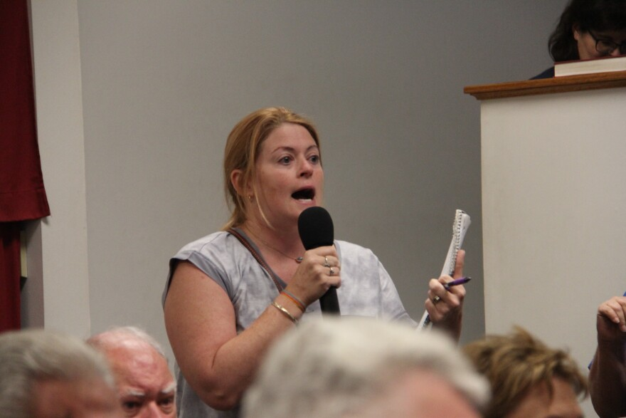 Bridgeton resident Meagan Beckerman at a meeting about the cleanup of West Lake Landfill Superfund site in July 2019.
