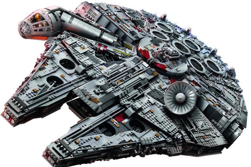 Legos have been reliably popular holiday gifts. But fans will have to wait for this 7,500-piece Millennium Falcon. It's sold out, and even when in stock, currently only available to VIP customers.
