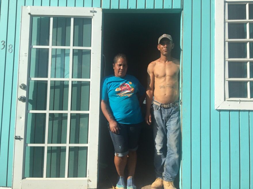 Cynthia Caldero and her husband Obdulio Cordero's little wooden home was leveled by Hurricane Maria. But they were denied a FEMA repair grant because they couldn't prove they owned it. After appealing for five months, a nonprofit finally stepped in to helped them rebuild.