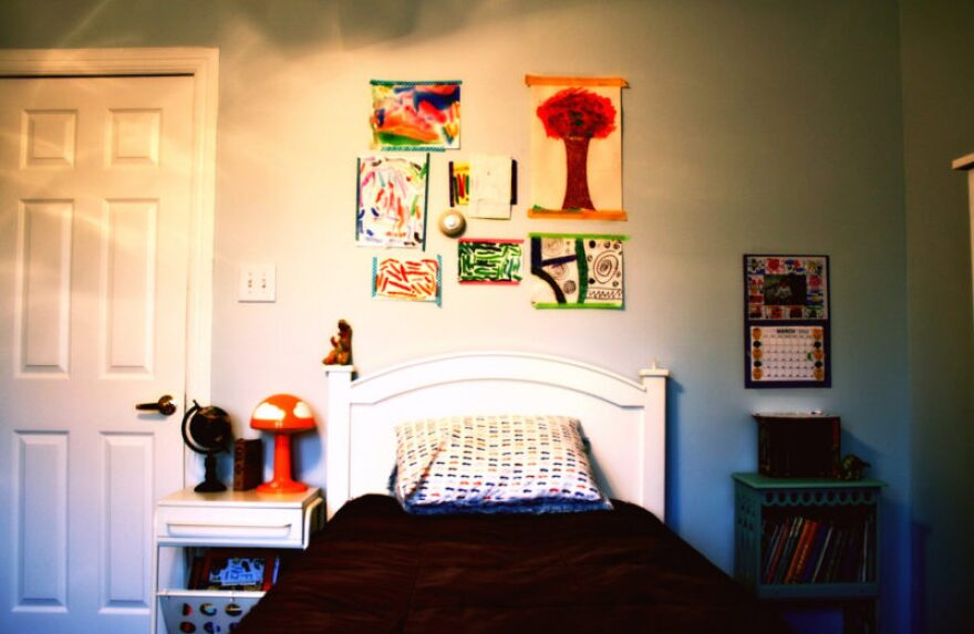 A child's bedroom.