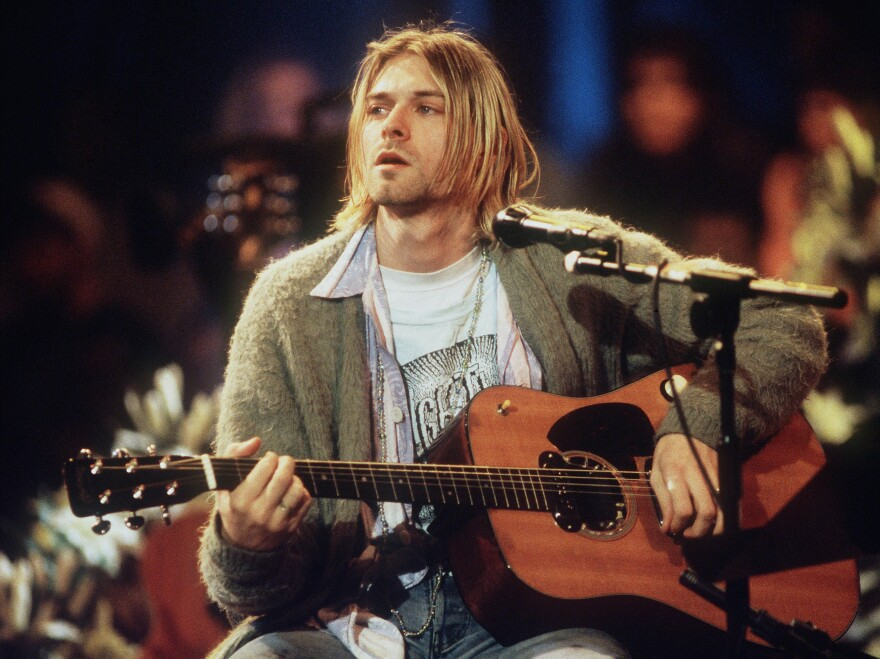 """""""I woke up in my mother's arms."""" Kurt Cobain of Nirvana sings for MTV Unplugged in 1993."""
