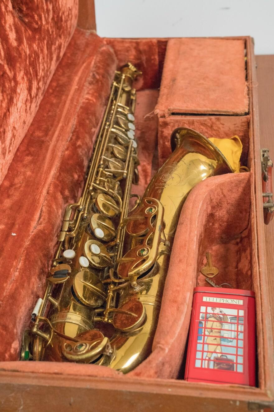 One of Sonny Rollins' saxophones.