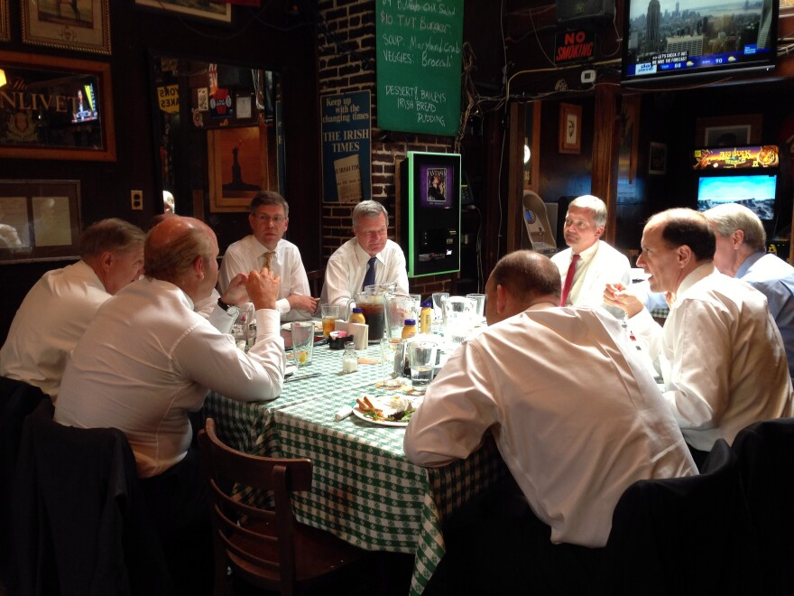 Lawmakers meet to discuss an overhaul of the tax code at Kelly's Irish Times on Capitol Hill.