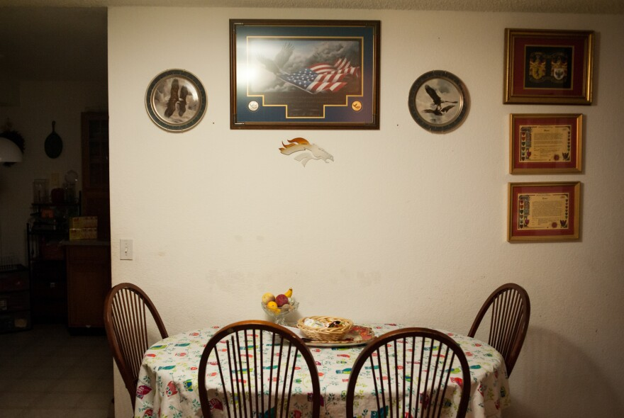 The dining room at the Vanni home.