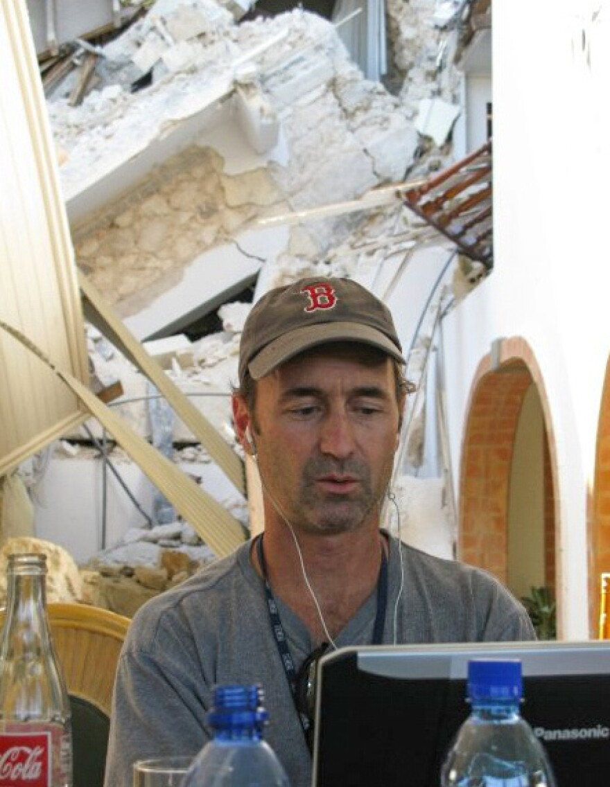 NPR reporter Jason Beaubien files a story from the Villa Creole immediately after the 2010 earthquake.