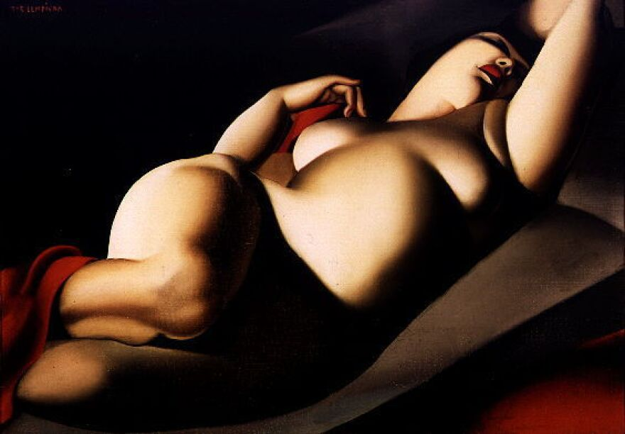 Tamara de Lempicka's <em>La Belle Rafaela</em>, painted in 1927, inspired Ellis Avery's novel <em>The Last Nude.</em> The art deco painter met Rafaela while on a walk in a Paris park. Rafaela became her model and her lover.<em></em>
