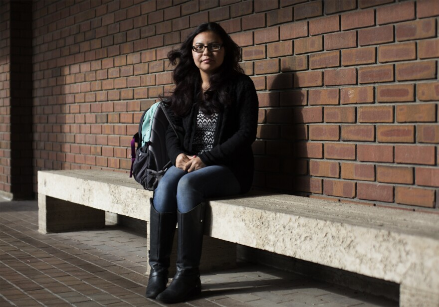 Areli Muñoz Reyes, who is enrolled in the Deferred Action for Childhood Arrivals program, attends St. Louis Community College at Forest Park.